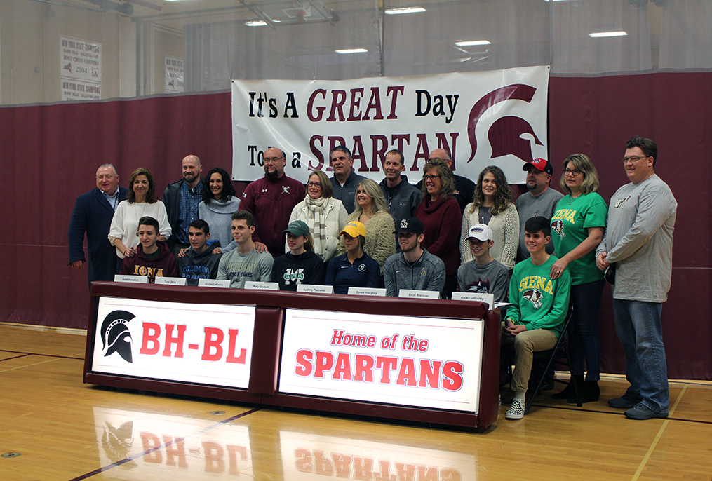 students and parents at Spartan Day