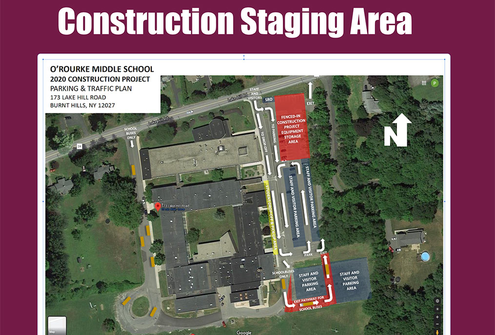 construction staging area map